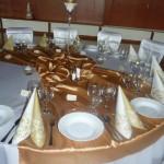 Veľká zlatá svadba - okrúhle stoly -Reštaurácia Lietadlo, Podlipníky, Hanušovce n/T, Vranov n/T, Prešov