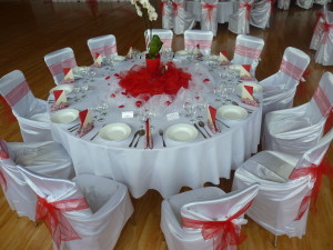 Červená svadba - okrúhle stoly - Reštaurácia Lietadlo, Podlipníky, Hanušovce n/T, Vranov n/T, Prešov